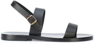 Saint Laurent Nu Pieds two band flat sandals