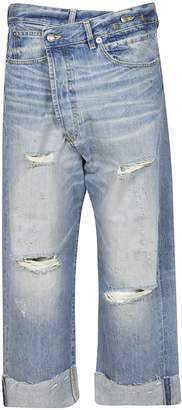 R 13 Distressed Boyfriend Jeans