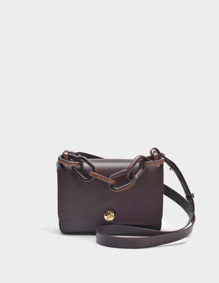 Sophie Hulme Spring Small Bag in Oxblood Cowhide Leather