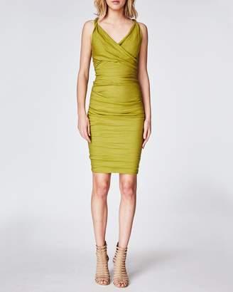 Nicole Miller Cotton Metal X Back Dress