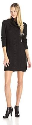 Dockers Women's Cable Front Panel Cotton Sweater Cowl Neck Dress $31.22 thestylecure.com
