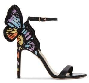 Sophia Webster Chiara Embroidery Slingback Sandals