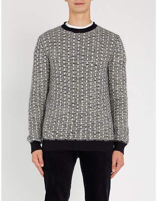 SLOWEAR Contrast-knit wool-blend jumper