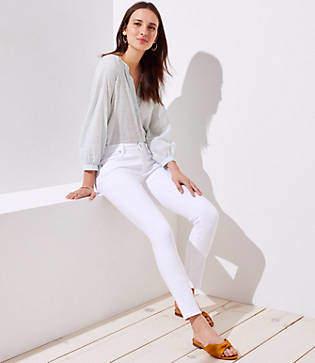 LOFT Modern Skinny Jeans in White