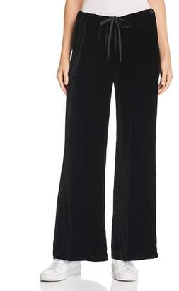 Chaser Velvet Wide-Leg Drawstring Pants