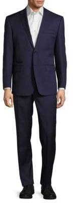 English Laundry Classic-Fit Solid Woolen Suit