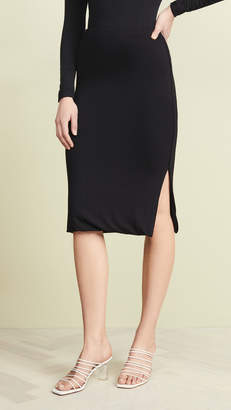 Three Dots Luxe Rib Pencil Skirt