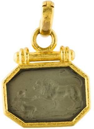 Elizabeth Locke 19K Mother of Pearl Intaglio Pendant