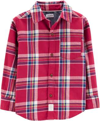 Carter's Baby Boy Plaid Flannel Button Down Shirt