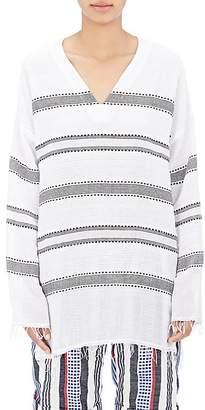 Lemlem Women's Dobby-Striped Gauze Tunic