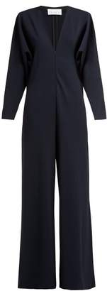 Raey Batwing Jersey Jumpsuit - Womens - Navy