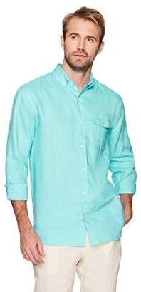 Isle Bay Linens Men's Standard-Fit 100% Linen Long-Sleeve Button-Down Woven Shirt