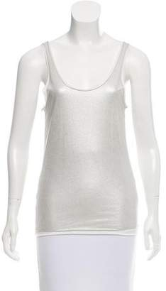 Ralph Lauren Black Label Sleeveless Metallic Top