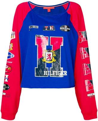 Tommy Hilfiger racer style sweatshirt