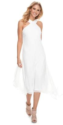 JLO by Jennifer Lopez Women's Crossover-Neck Chiffon Dress