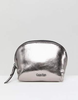 Calvin Klein Metallic Makeup Bag