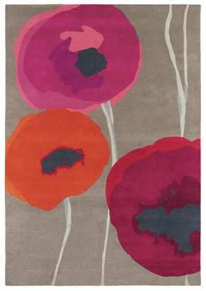 Sanderson Unitex International Poppies Red/orange 45700 Rug