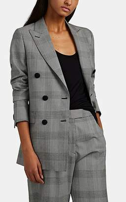 Officine Generale Women's Manon Prince of Wales Checked Wool Double-Breasted Jacket - Gray