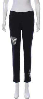 Stella McCartney Mid-Rise Lace Jeans Black Mid-Rise Lace Jeans
