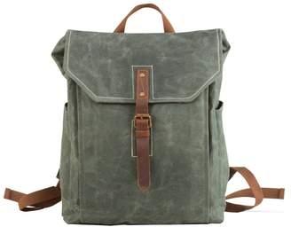 EAZO - Vintage Look Waxed Canvas Backpack Teal