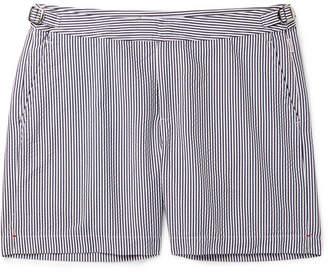 e7a6a7a430 Orlebar Brown Bulldog Mid-Length Striped Seersucker Swim Shorts