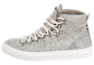 Diemme Tweed High-Top Sneakers