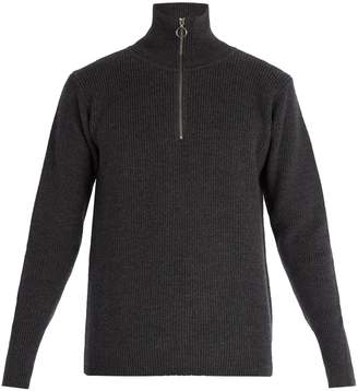 Barena VENEZIA Half-zip ribbed-knit wool sweater