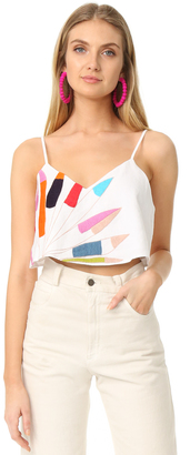 Mara Hoffman Embroidered Crop Cami $235 thestylecure.com
