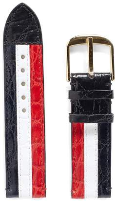 Thom Browne Caiman Leather Tricolour Watch Strap