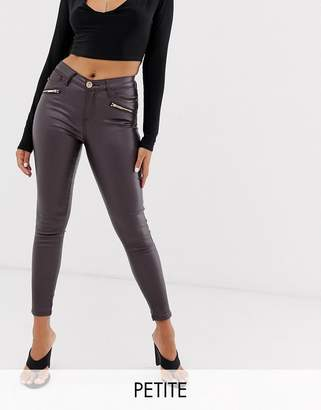 97aa9ba4d51e Petite Coated Skinny Jeans - ShopStyle UK