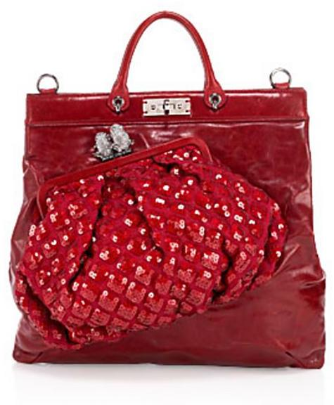 Marc Jacobs Collection Bag-on-Bag Leather and Sequin Robert Tote
