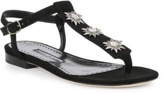 Manolo Blahnik Ghazalina black suede sandal