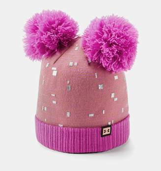 Under Armour Girls' UA Double Pom Beanie