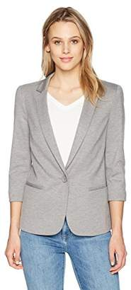 James Jeans Women's Shrunken Tuxedo Slim Collar Jacket in