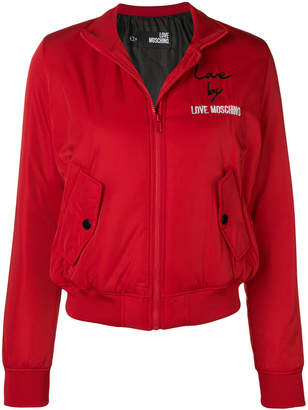 Love Moschino embroidered logo bomber jacket
