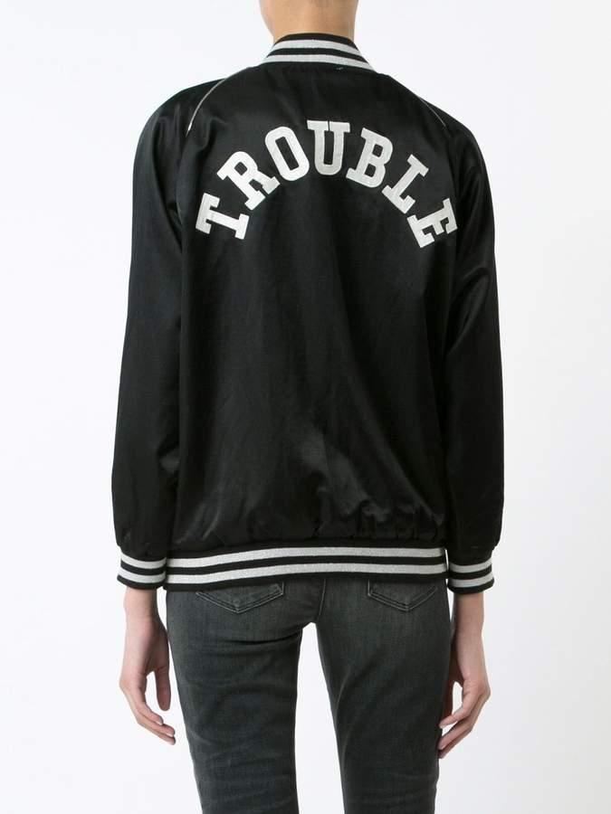 R 13 'Trouble' bomber jacket