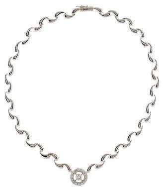 14K Diamond Halo Necklace