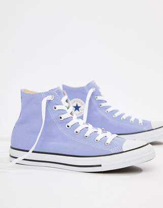 Converse Chuck Taylor All Star Hi Sneakers In Purple 160455C