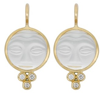 Women's Temple St. Clair Moonface Diamond & Rock Crystal Earrings $1,000 thestylecure.com