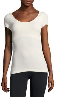 BCBGeneration Penny Padded-Shoulder Tee
