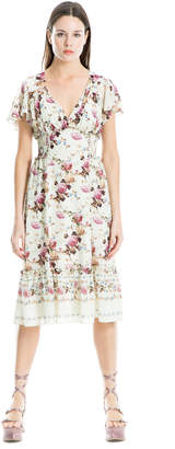 Max Studio cross-hatch crepon dress