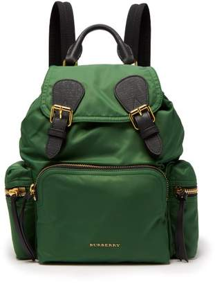 Burberry Medium Nylon Backpack - Womens - Dark Green