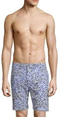 Onia Men's Print Swim Shorts - White Multi - Size 36