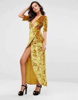 Boohoo Velvet Wrap Maxi Dress $44 thestylecure.com