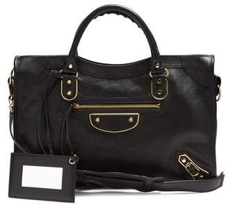 Balenciaga Metallic Edge City Bag - Womens - Black