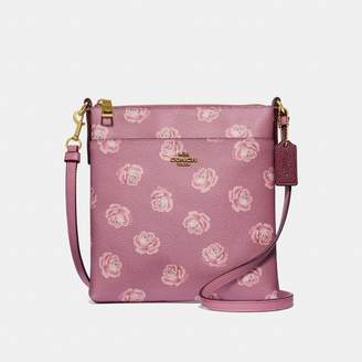 Coach Kitt Messenger Crossbody With Rose Print