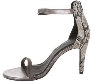 Joie Embossed Ankle-Strap Sandals