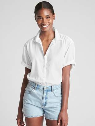 Gap Short Sleeve Boyfriend Shirt