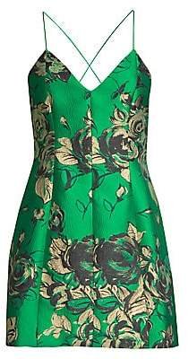 Alice + Olivia Women's Tayla Floral Sleeveless Dress