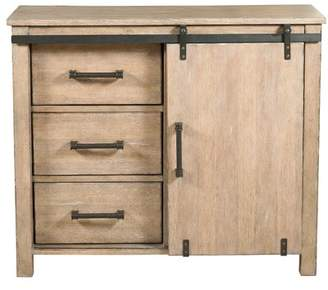 Gracie Oaks Lemelin Farmhouse Style Sliding Storage 3 Drawers or 1 Door Accent Cabinet